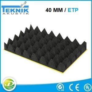 40 MM Yanmaz akustik piramit sünger