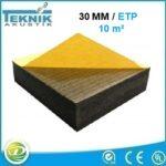 30 MM düz akustik sünger yapışkanlı